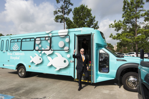 Mark arrives at his very first stop of the One Amazing Team tour - Texas Children's Pediatrics Conroe.