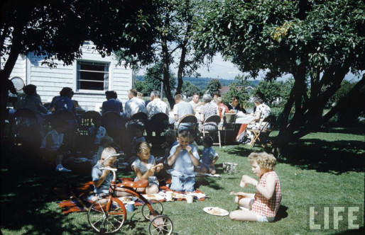 Photo courtesy of Life magazine, taken by photographer N.R. Farbman on the 4th of July, 1954.