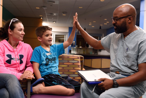 Texas Children's Ambassador Donald Wilkins in Ambulatory Surgery provides reassurance to many families whose children come here for surgery. Wilkins is well known in his area as someone always striving to make each patient's experience exceptional.